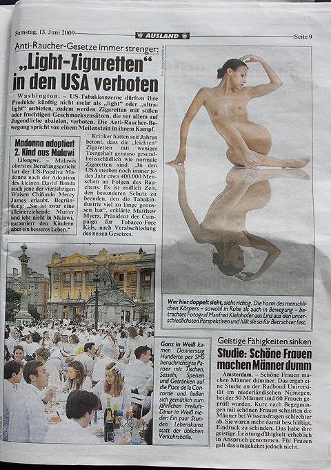 Kronenzeitung Sa. 13.Juni 2009